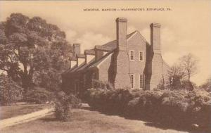 Virginia Westmorland County Meroial Manison Washingtons Birthplace Artvue