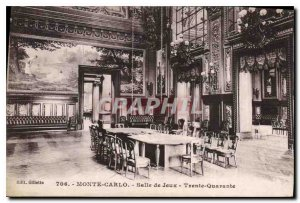 Old Postcard Monte Carlo Games Room Thirty Forty