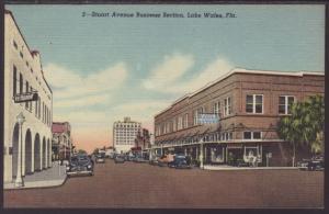 Stuart Avenue Business Section,Lake Wales,FL Postcard