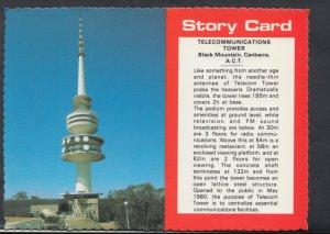 Australia Postcard - Story Card - Telecommunications Tower, Black Mountain, C...