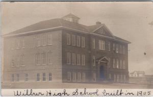 RPPCWILBUR, NE Nebraska  WILBUR HIGH SCHOOL (Built 1905)1908pm Loup CityPostcard