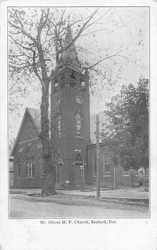 Seaford Delaware Mt Olivet MP Church Vintage Postcard AA384