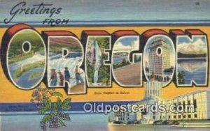 Salem, Oregon, USA Large Letter Town Postcard Post Card Old Vintage Antique U...