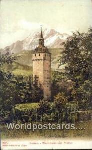 Luzern Swizerland, Schweiz, Svizzera, Suisse Wachtturm und Pilatus  Wachtturm...