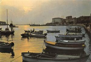 Croatia Porec Harbour Boats Sunset Port Bateaux Promenade