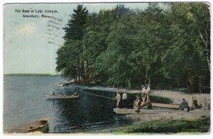 Amesbury, Mass, The Dam at Lake Attitash