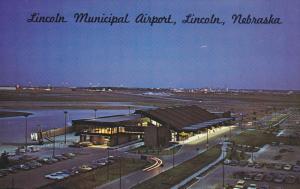 Night View, Lincoln Municipal Airport, Lincoln, Nebraska, 40-60´s