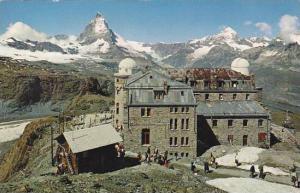 Schweiz Zermatt Gornergrat mit Matterhorn und Dent Blanche