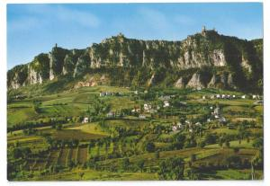 San Marino Titano Mountain View 4X6 Postcard