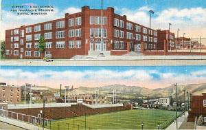 High School and Naranche Stadium Butte Montana MT Linen