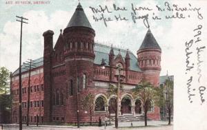 The Art Museum - Detroit MI, Michigan - pm 1907 - UDB