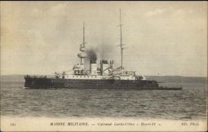 Marine Militaire French Naval Ship Cuirasse Garde Cotes Henri-IV SAILORS MAIL