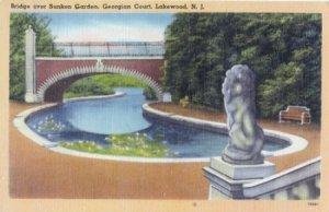 Lakewood NJ -  SUNKEN GARDEN at Georgian Court, 1930/40s