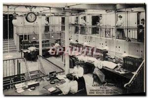 Old Postcard Bank Credit Lyonnais Paris TOP Conservation Titles