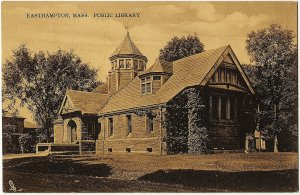 1914 Easthampton MA Mass Public Library RARE Raphael Tuck Antique DB Postcard