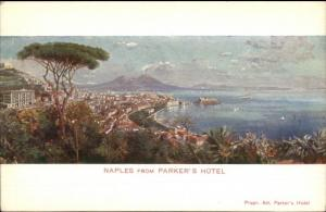 Naples Napoli From Parker's Hotel c1910 Postcard EXC COND