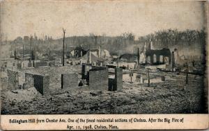 Chelsea Massachusetts~Bellingham Hill Residences After Fire~April 11 1908~PC