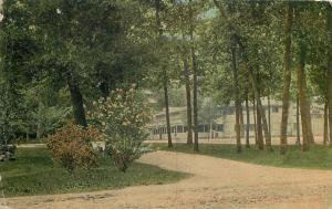 Winona Lake Indiana~Tree Lined Dirt Roads to Auditorium~1910 Postcard