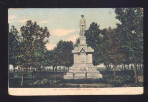 HENNESSEY OKLAHOMA ROY CASHION'S MONUMENT ANTIQUE VINTAGE POSTCARD