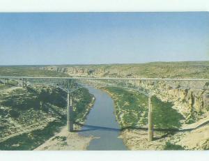 Unused Pre-1980 BRIDGE SCENE Del Rio And Sanderson Texas TX HQ9441