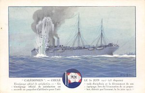 Caledonien French Misc Lines Ship Unused