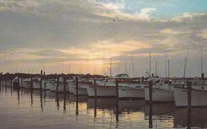 Sunset at Indian River Yacht Basin, Rehoboth Beach, Delaware,40-60s