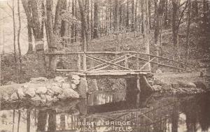 26257 MA, Medford, 1915, Middlesex Fells, Rustic Bridge