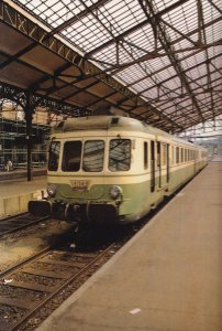 RGP2 Train En Gare De Brive French Train Railway Station Postcard