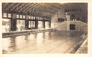 E63/ Seigniory Club Quebec Canada RPPC Postcard 1948 Swimming Pool