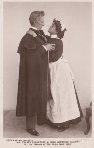 Never Say Die HUGE CAST Winifred Emery Doris Lytton  RPC Postcard