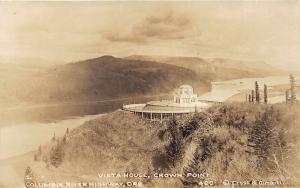 Columbia River Highway Oregon~Vista House Crown Point~1920s Cross & Dimmitt RPPC