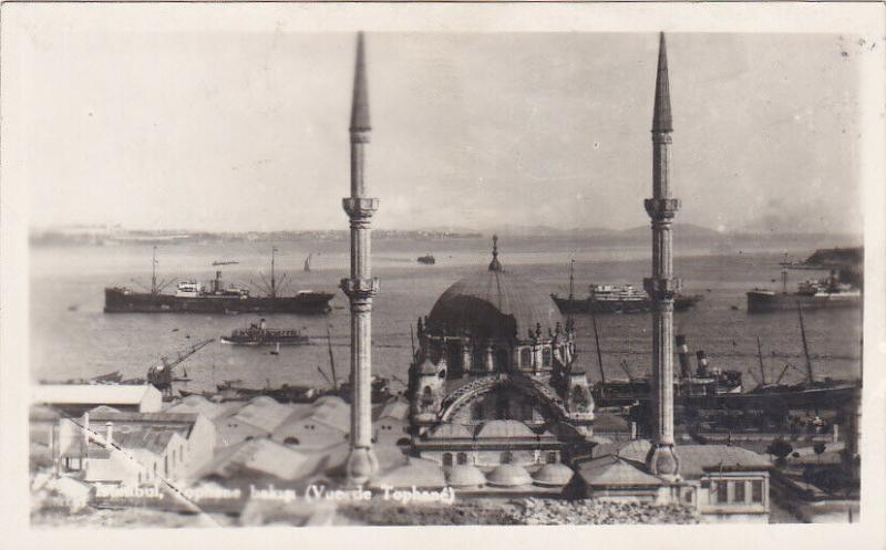 RP: ISTANBUL, Turkey, 1920-1940s; View toward ships