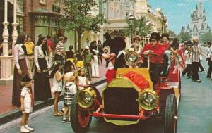 Florida Orlando Walt Disney World Riding Down Main Street U S A
