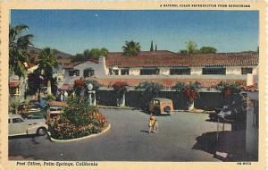 Linen Card of Post Office Palm Springs California CA