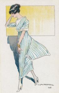 ART DECO ; CALDERARA ; Female Fashion portraits #2, 1910-20s