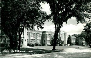 Vtg Postkarte 1950s RPPC Charles Stadt, Iowa Ia - High School Unp