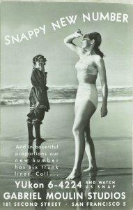 C.1930-40 RPPC New Number Gabriel Moulin Studios S. F. Cal. Vintage Postcard P99