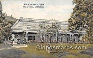 Anita Stewart's Home Hollywood, CA, USA 1924 Missing Stamp