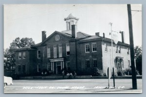 IRWINGTON GA WILKINSON CO. COURT HOUSE VINTAGE REAL PHOTO POSTCARD RPPC