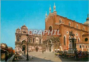 Modern Postcard Venezia Civil Hospital Church of St. John and Paul and Monume...