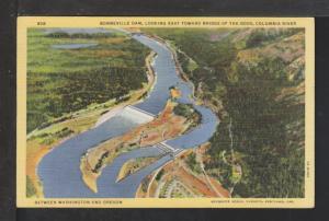 Bonneville Dam,Columbia River,Between WA and OR Postcard
