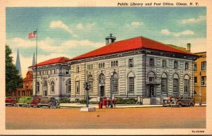 New York Olean Public Library and Post Office 1938 Curteich