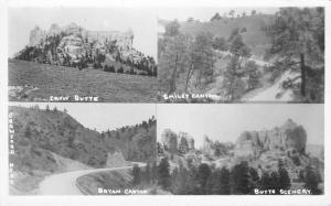 Crawford Nebraska~Smiley & Bryan Canyon~Crow Butte Scenery~1950s RPPC