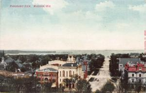 Panoramic View, Madison, Wisconsin, Early Postcard, Unused