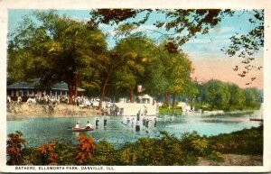 Illinois Danville Ellsworth Park Bathers 1925 Curteich