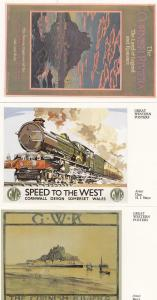 GWR The Cornish Riviera 4x Great Western Railway Train Poster Postcard s
