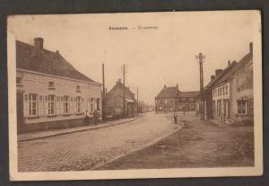 Old Street View, Anzegem, Belgium - Unused - Staining, Paper Adhesion