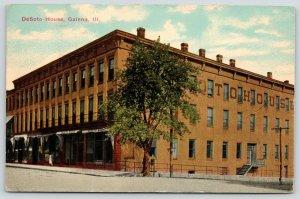 Galena Illinois~DeSoto House Hotel~Lady Window Shops Ground Floor Stores~1912