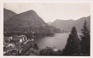 Switzerland Lugano Hotel Weisses Kreuz 1931 Real Photo