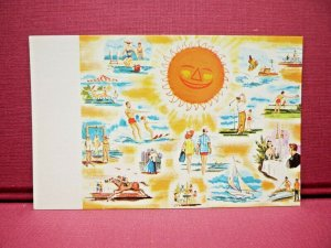Cape May County Wildwood, N.J. Sunny Vacation Time 1960's Chrome Postcard